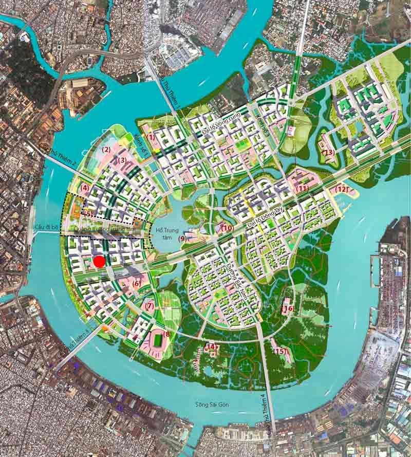 Local map of Sunshine Venicia Thu Thiem