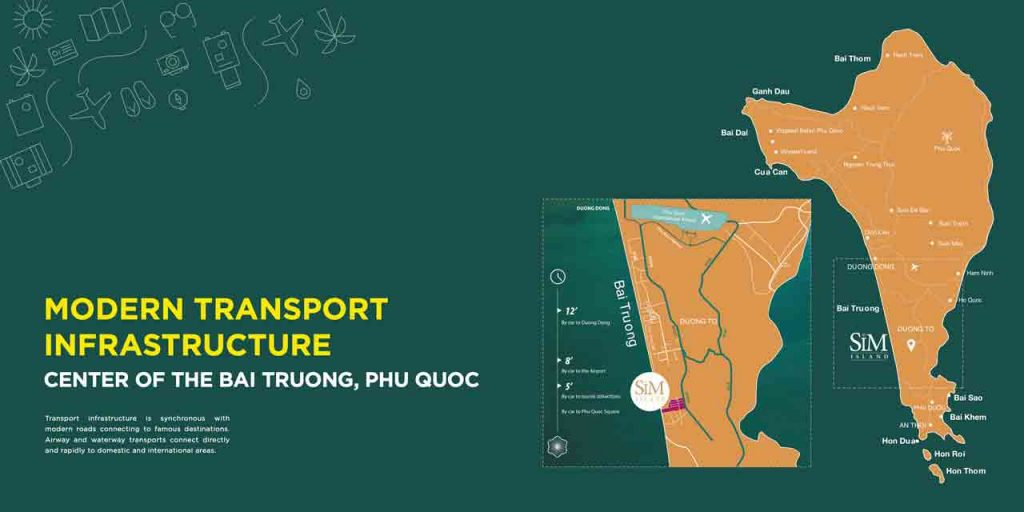 MODERN TRANSPORT INFRASTRUCTURE CENTER OF THE BAI TRUONG, PHU QUOC