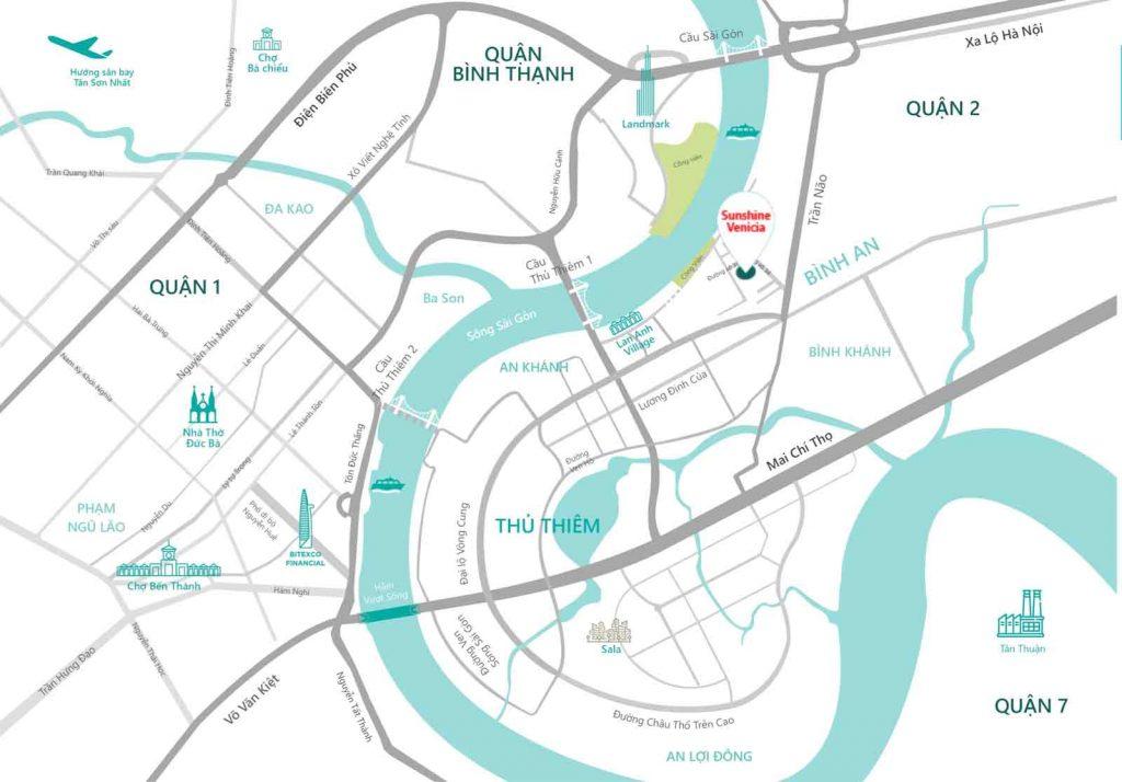 Location of Sunshine Venicia District 2