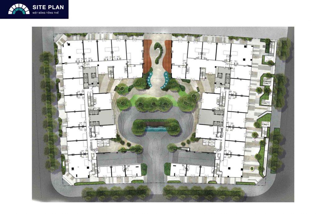 Site plan The Opera Residence