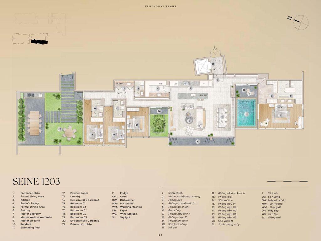 Penthouse Seine 1203