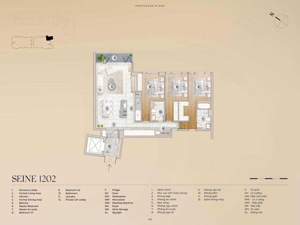 Penthouse Seine 1202