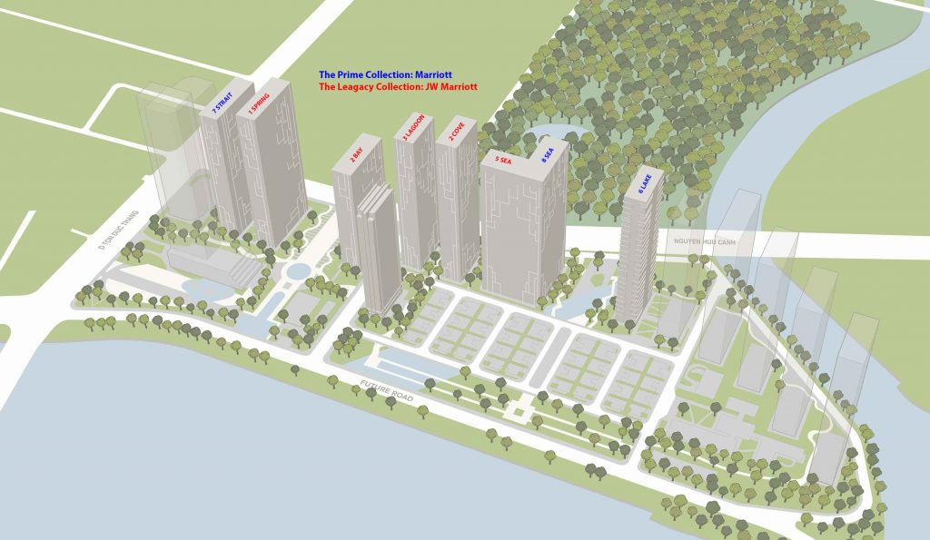 Masterplan Grand Marina Saigon with 8 tower 36-47 floors
