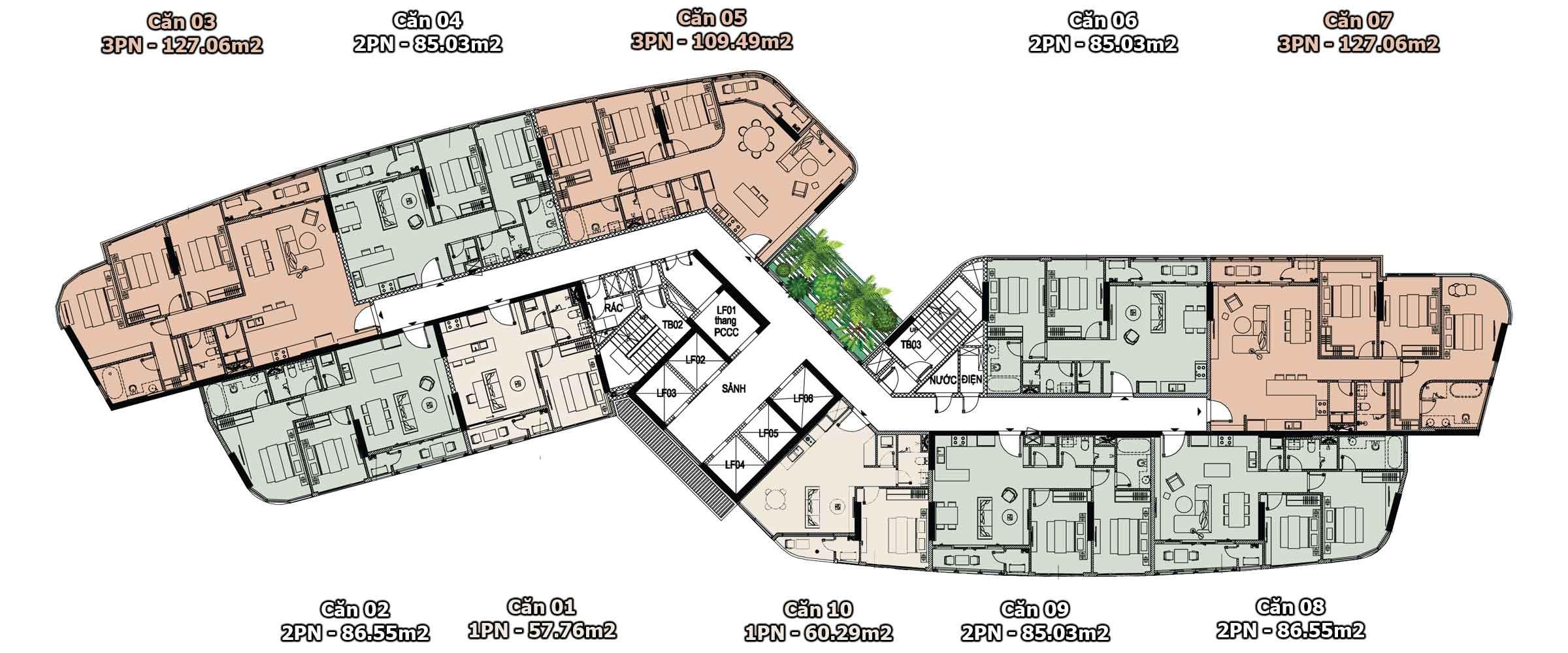 Floor 4-23 Thao Dien Green Tower